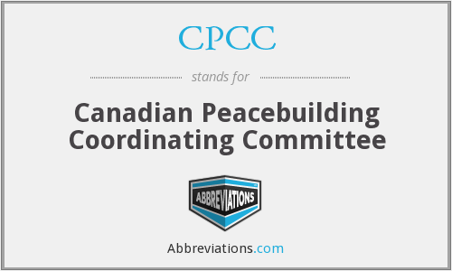 CPCC - Canadian Peacebuilding Coordinating Committee
