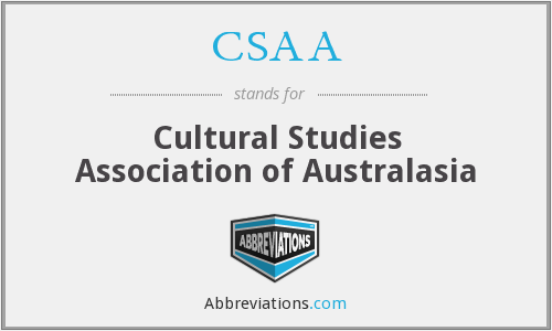 CSAA - Cultural Studies Association of Australasia