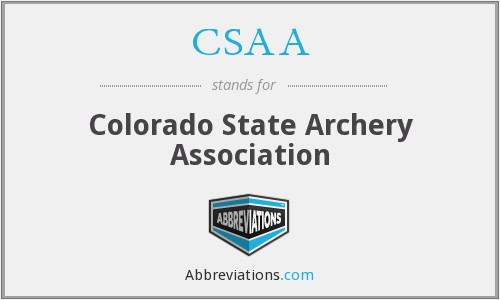 CSAA - Colorado State Archery Association