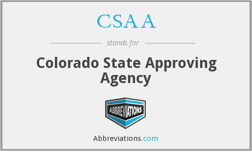 CSAA - Colorado State Approving Agency