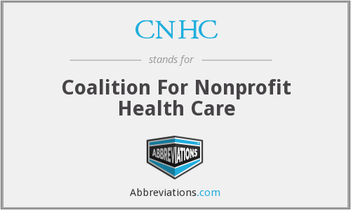 CNHC - Coalition For Nonprofit Health Care
