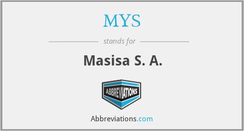 MYS - Masisa S. A.