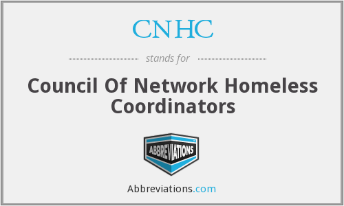 CNHC - Council Of Network Homeless Coordinators