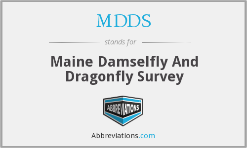 MDDS - Maine Damselfly And Dragonfly Survey