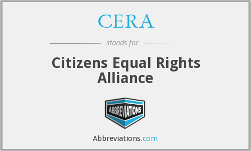 CERA - Citizens Equal Rights Alliance
