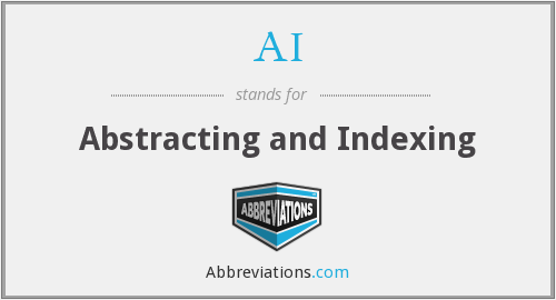 AI - Abstracting and Indexing