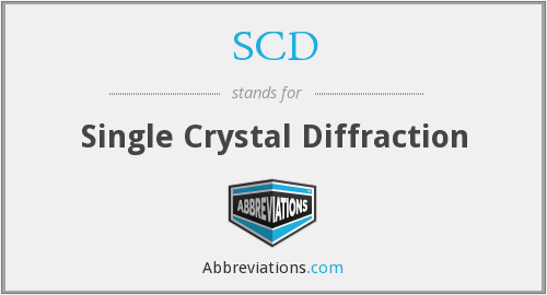 SCD - Single Crystal Diffraction