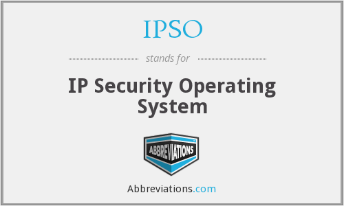 What does IPSO stand for?