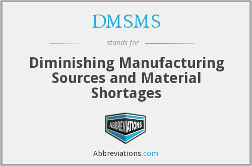 What does DMSMS stand for?