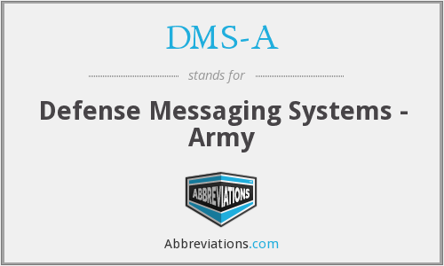 DMS-A - Defense Messaging Systems - Army