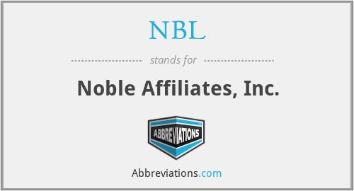 NBL - Noble Affiliates, Inc.