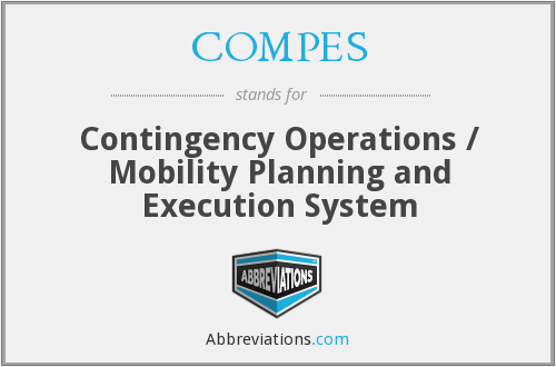 COMPES - Contingency Operations / Mobility Planning and Execution System