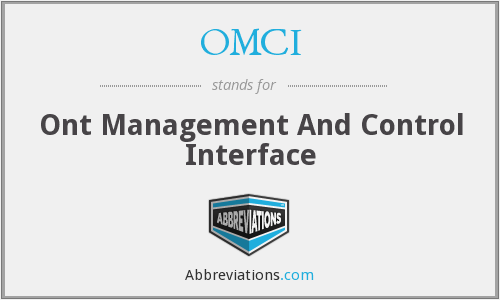 What does OMCI stand for?