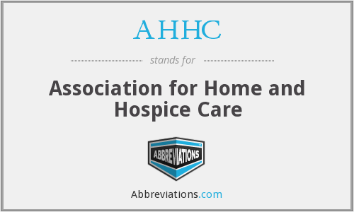 AHHC - Association for Home and Hospice Care