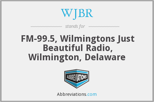 What does WJBR stand for?
