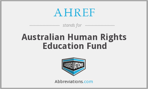 AHREF - Australian Human Rights Education Fund
