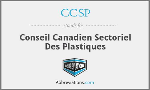 CCSP - Conseil Canadien Sectoriel Des Plastiques
