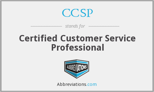 CCSP - Certified Customer Service Professional
