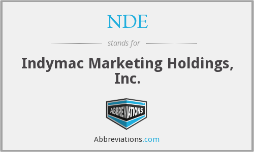 NDE - Indymac Marketing Holdings, Inc.