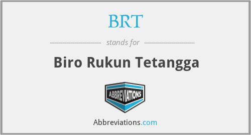 BRT - Biro Rukun Tetangga