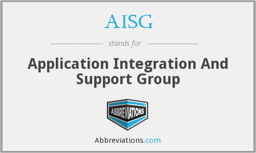 AISG - Application Integration And Support Group