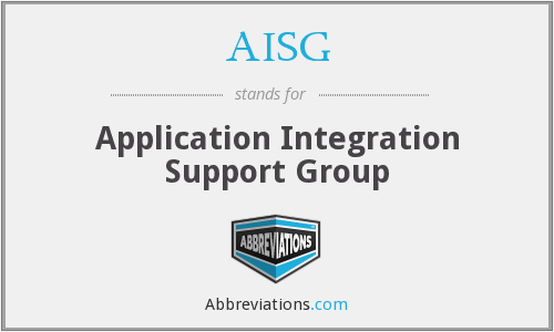 AISG - Application Integration Support Group