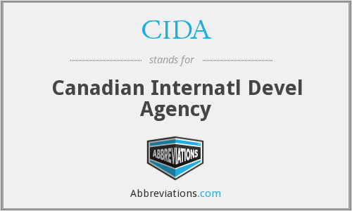 CIDA - Canadian Internatl Devel Agency
