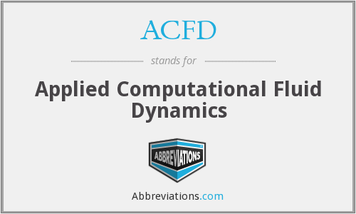 ACFD - Applied Computational Fluid Dynamics