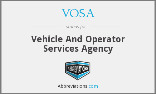 What does VOSA stand for?
