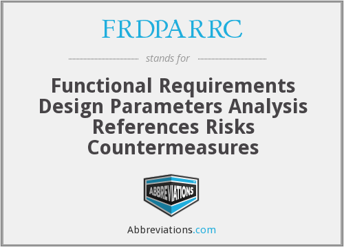 What does FRDPARRC stand for?