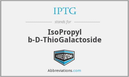 What does IPTG stand for?
