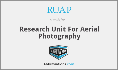 RUAP - Research Unit For Aerial Photography