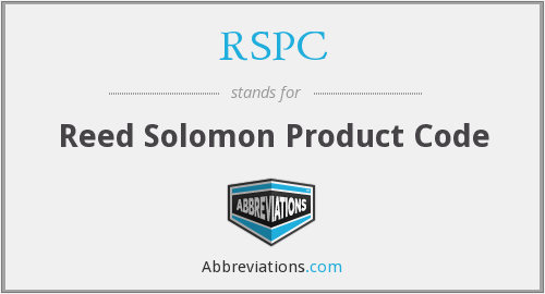 RSPC - Reed Solomon Product Code