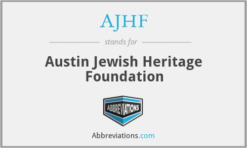 AJHF - Austin Jewish Heritage Foundation