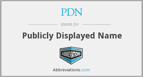 PDN - Publicly Displayed Name