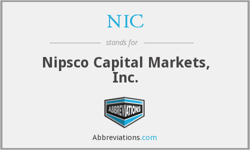 NIC - Nipsco Capital Markets, Inc.
