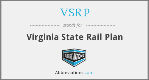 VSRP - Virginia State Rail Plan