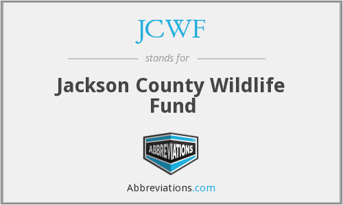 JCWF - Jackson County Wildlife Fund