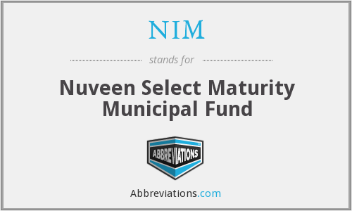 NIM - Nuveen Select Maturity Municipal Fund