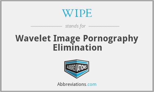 WIPE - Wavelet Image Pornography Elimination