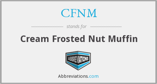 CFNM - Cream Frosted Nut Muffin