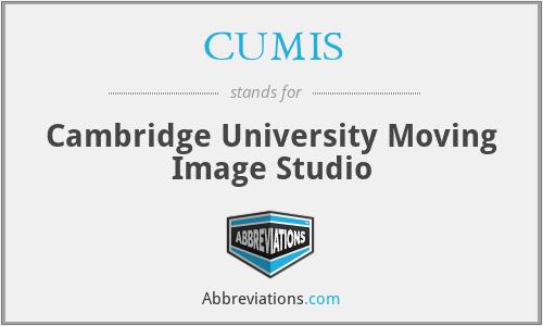 CUMIS - Cambridge University Moving Image Studio
