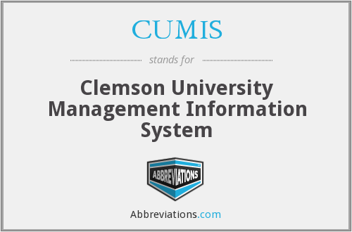 CUMIS - Clemson University Management Information System