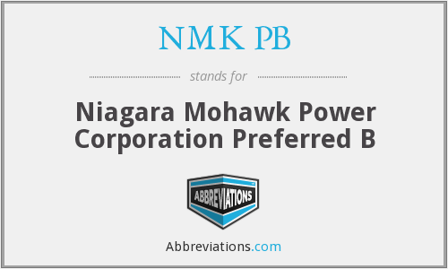 What does NMK PB stand for?