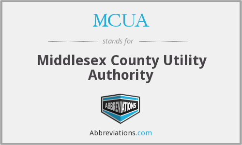 MCUA - Middlesex County Utility Authority