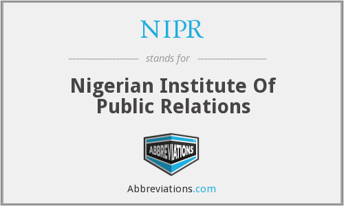 NIPR - Nigerian Institute Of Public Relations