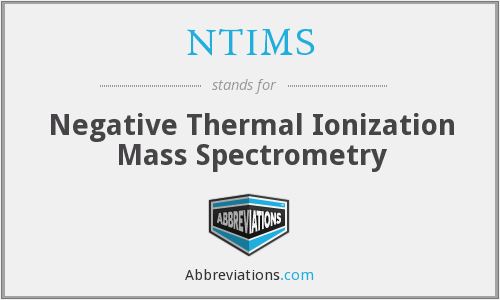 NTIMS - Negative Thermal Ionization Mass Spectrometry