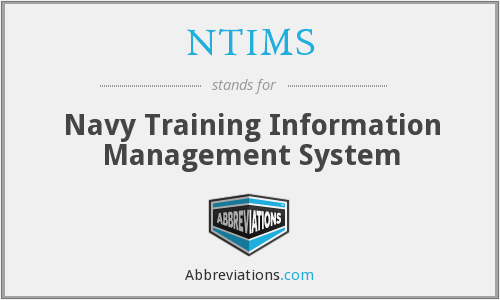 NTIMS - Navy Training Information Management System