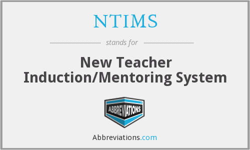 NTIMS - New Teacher Induction/Mentoring System