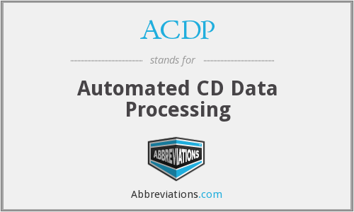 ACDP - Automated CD Data Processing